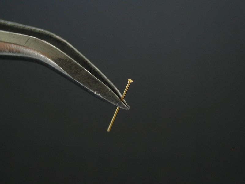 画像4: 軸付リベットC 頭径0.6 軸径0.3・長5.0mm 30個入
