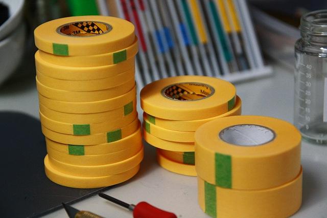 画像1: マスキングテープ 18mmx18m 10巻