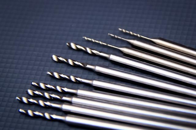 画像1: シャンク付き精密ドリルC-1.8mm
