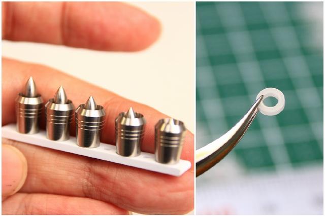 画像1: インナーノズル調整用スペーサー白 外径4mm 穴2mm 厚1mm 30枚入