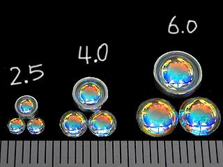 画像1: レンズ球面-オーロラ-3.0mm 4個入