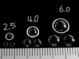 画像1: レンズ球面-ブラック-4.0mm 4個入