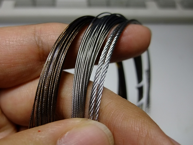 画像1: クロッシェワイヤー 銀0.5mmx1m