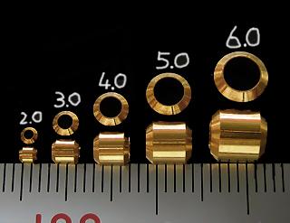 画像1: 面取パイプC 5mm ブラス 20個入
