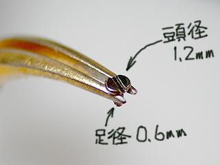 画像1: ネジMM0601 マイナス超小型平頭 M0.6-L1mm 30個入